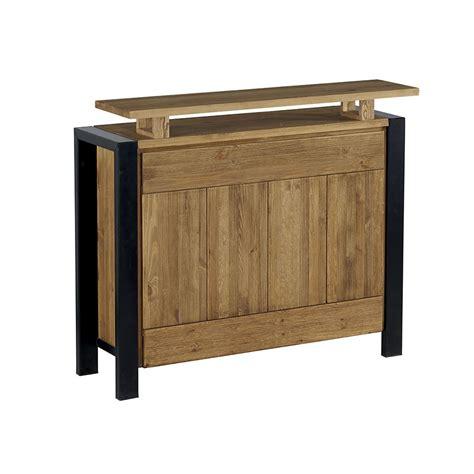 bar cuisine bois meubles bar cuisine simmob snack135bl meuble barcomptoir