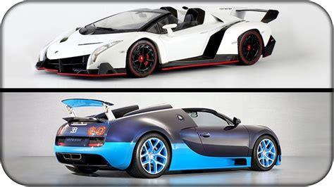Bugatti Veyron Ss Vs Lamborghini Veneno!!