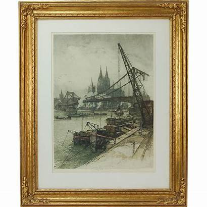 Kasimir Luigi Austrian Etching Cologne American Aquatint