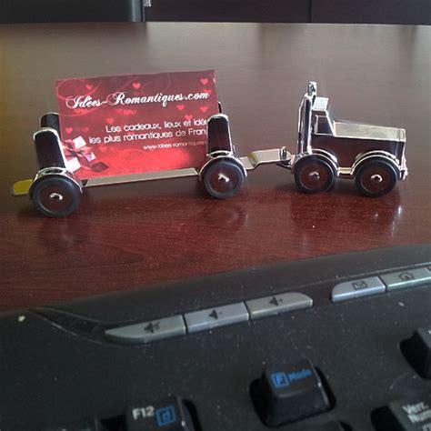 cadeau bureau homme presse papier camion avec remorque aimanté décoration bureau idée de cadeau pour homme le