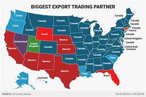Every US state's most important international trading ...
