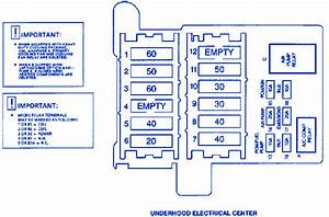 Cadillac Fleetwood 1998 Underhood Electrical Fuse Box