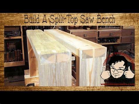 build   split top  bench  woodworking short