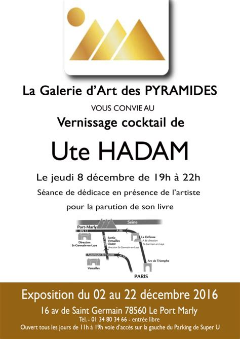 ute hadam 187 exhibition december 2016 gallery les pyramides in port marly near
