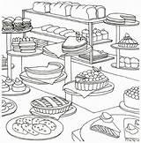 Coloring Bakery Bread Printable Adults Adult Cake Colouring Sheets Baking Cupcake Coloringdoo Artistic Mandala Kawaii sketch template