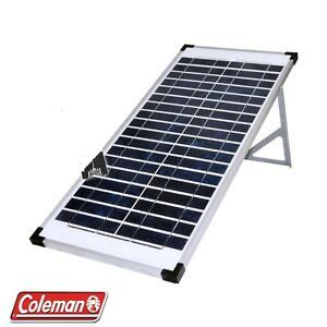 lot of 3 coleman 40 watt crystalline solar panel 12v 40w 120 watt total ebay