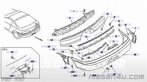 Montagebeugel Achterbumper Nissan 100nx B13 Rechts 85220