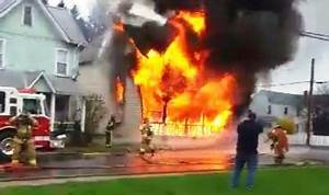 Arrival Video  House Fire In Jersey Shore  Pa