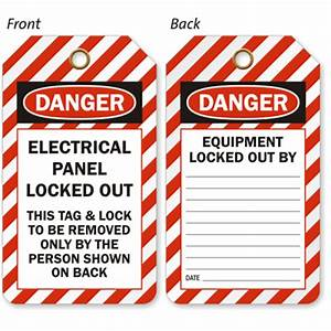 electrical panel locked out tag osha 2 sided tag sku With electrical panel tags