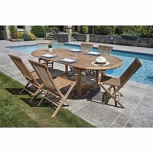 Ensemble Table Chaise Jardin : ensemble table et chaise de jardin en teck chez jardin et ~ Mglfilm.com Idées de Décoration