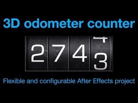 odometer number counter  effects template youtube
