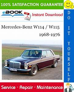 Best  U2606 U2606 Mercedes  W115 Service Repair Manual