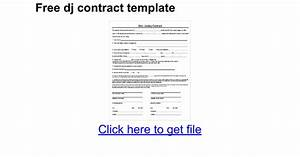 free dj contract template google docs With dj booking contract template