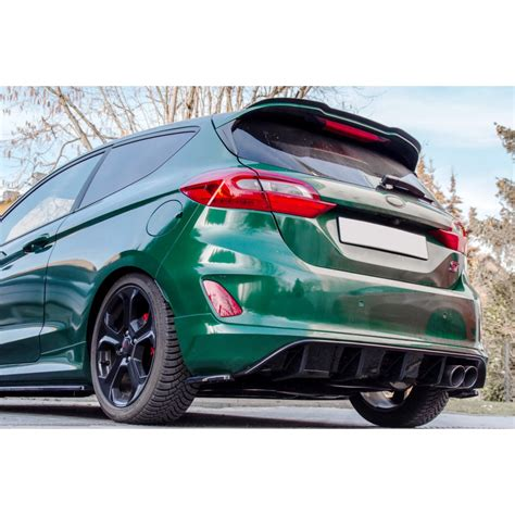 ford mk8 tuning maxton design rear diffuser ford mk8 st 2018 up c1 r