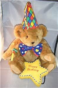 HAPPY BIRTHDAY Authentic Vermont Jointed Teddy Bear Honey ...