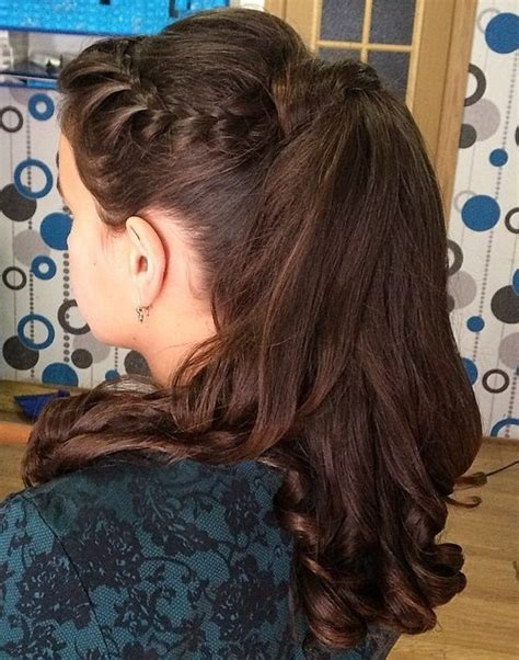 cute ponytails  long medium length hair straight