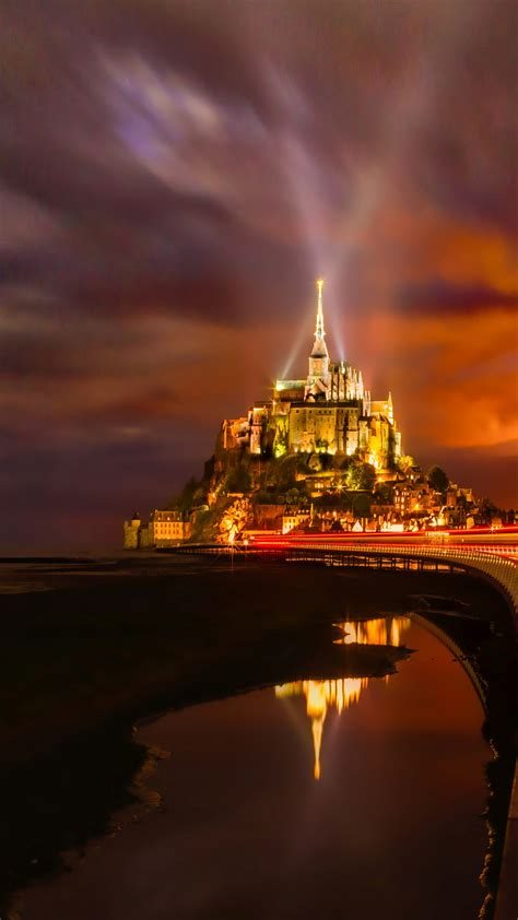 wallpaper mont saint michel island normandy france