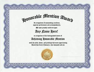Honorable mention award recognition awards certificate ebay for Honorable mention certificate