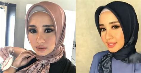 tutorial hijab segiempat stylish ala laudya cynthia bella