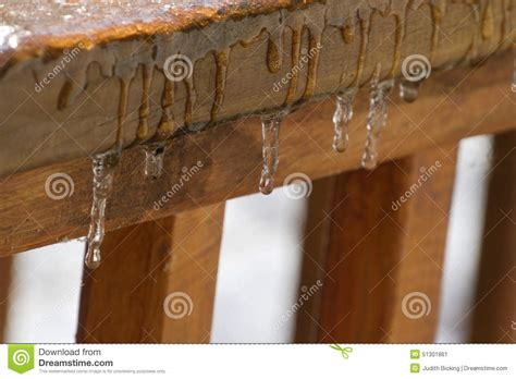 Melt For Wood Decks by Melting Stock Photo Image 51301861