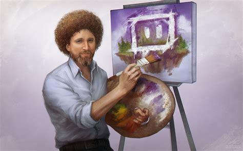 Bob Ross Portrait By Sohlol On Deviantart