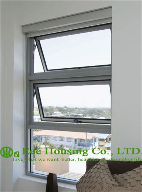 clear tempered safety glass aluminum awning window  apartment villas white color aluminum