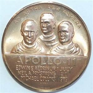 "Apollo 11 ""First on the Moon"" Mission Commemorative Bronz ..."
