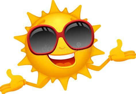 Happy Sun Cartoon Stock Vector. Illustration Of Climate