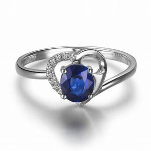 exquisite sapphire and diamond heart ring cheap engagement With sapphire wedding rings