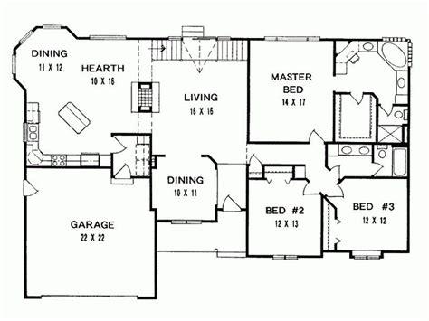 bedroom ranch house floor plans  home plans design