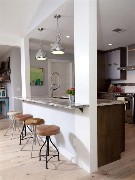 Custom paint color may be applied over surface. 58+ AWESOME HALF WALL KITCHEN DESIGNS IDEAS - Page 15 of 59