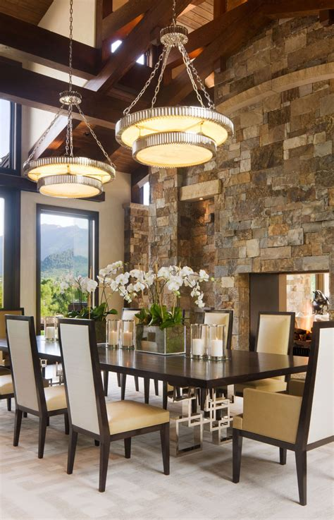 modern rustic dining room willoughby way by charles cunniffe architects keribrownhomes Modern Rustic Dining Room