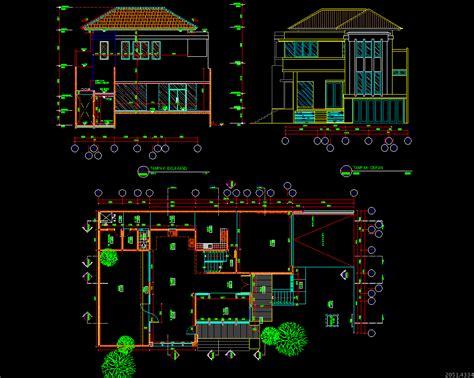 gambar autocad desain gratis rumah  lantai info