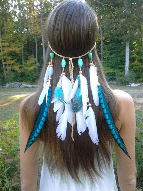turqouise princess feather headband bigdiyideascom