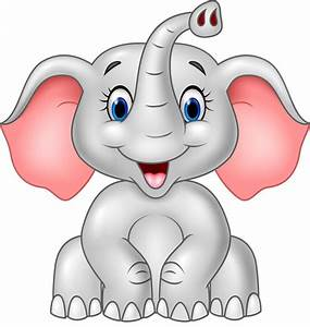 Face clipart baby elephant - Pencil and in color face ...