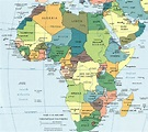 Political map of Africa and the Middle East (Courtesy of ...