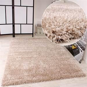 Langflor Teppich Saugen : shaggy teppich hochflor langflor leicht meliert qualitativ u preiswert uni creme ebay ~ Markanthonyermac.com Haus und Dekorationen