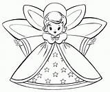 Coloring Angel Simple Christmas Pages Popular sketch template