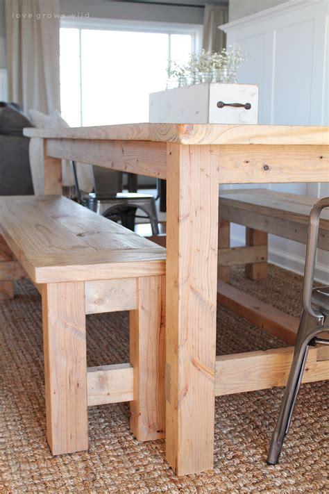 farmhouse table with bench diy farmhouse table grows