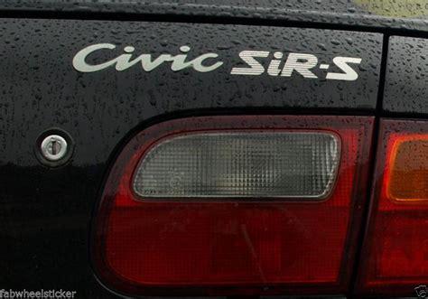 find jdm honda civic  sirs sir ii rear boot trunk decal