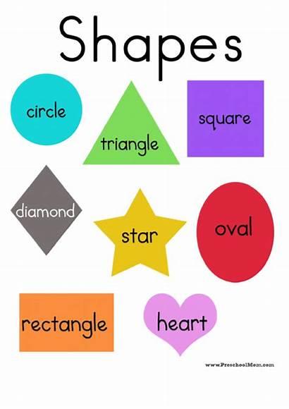 Shapes Preschool Shape Printable Printables Charts Chart