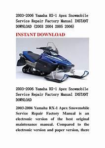 2003 2006 Yamaha Rx