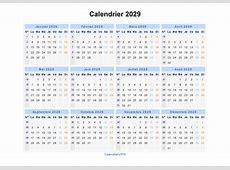 Calendrier 2029 à imprimer gratuit en PDF et Excel