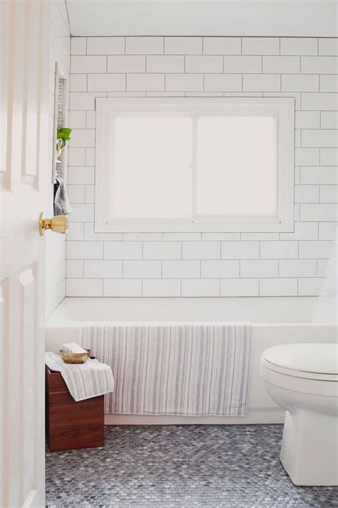 floor subway tile ideas 26 white bathroom tile with grey grout ideas and pictures Bathroom