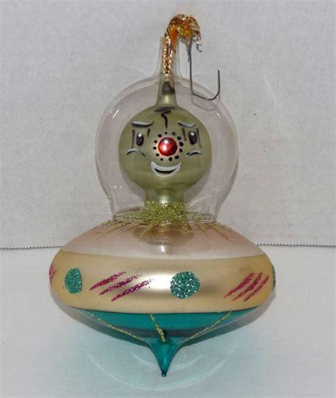 vtg italy christmas alien italian blown glass martian in