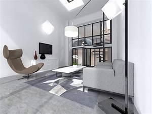 Sejour Style Industriel : loft industriel r organis sur 4 plateaux architecte d 39 int rieur ~ Teatrodelosmanantiales.com Idées de Décoration