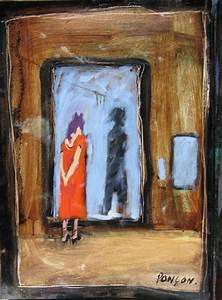 Peinture Argentée Spéciale Miroir : technique mixte sur papier face au miroir alain pon on ~ Dailycaller-alerts.com Idées de Décoration