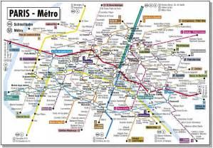 Paris France Metro Map