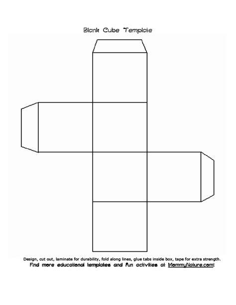 blank cube template