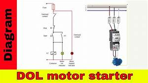 How To Wire A Contactor - Direct On Line Motor Starter Diagram